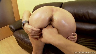 Blonde granny with hairy pussy Effie plays with young boyfriend in the POV scene Preview Image