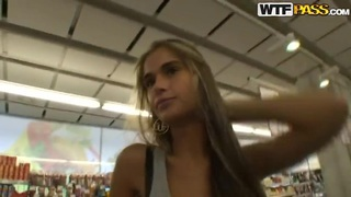 Hot blond slut Nessa Devil being fucked in a public shopping mall Preview Image