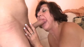 Elder mom with saggy tasty tits & guy Preview Image