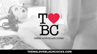 TeensLoveBlackCocks - Raven-Haired Teen First Black Cock Preview Image