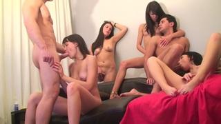 Berta & Lerok & Eva Dark & Lucille & Nora & Vicktoria Tiffany in alluring chicks in a hot college sex video Preview Image