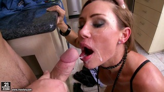 Filthy hoe Sky Taylor gets the perfect fuck on the twat that she always cra... Preview Image