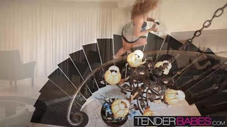 Blonde babe Jessie Rogers a big load of hot cum on her ass Preview Image