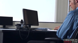 Jade Nile getting banged by her boss on his office desk Preview Image