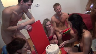 Charlotte Reed & Angel Piaff & Corrine & Eveline & Ilsa in nude students enter a lustful group sex adventure Preview Image