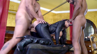 Romi Rain gets assaulted by three big-dicked studs Preview Image
