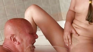 Very old grandpa_and young girl enjoying nasty sex Preview Image