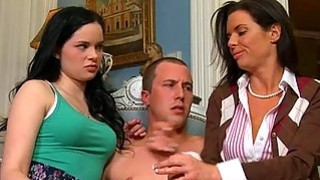 Sexy mum watches as stud pounds sweet babes twat Preview Image