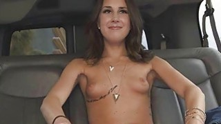Brunette Finger Fucked And Sucking Dick In Backseat Of Van Preview Image