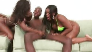 Big Booty Black Ghetto Hoes Sucking Dick In Threesome Preview Image