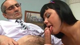 Hottie gets spunk flow in her ass from teacher Preview Image
