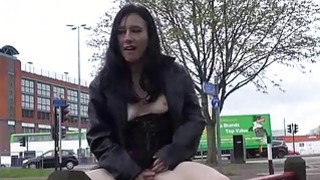 Fae Corbins amateur flashing and outdoor babes pub Preview Image