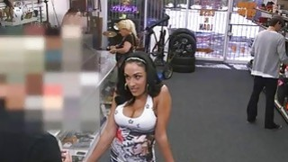 Big titty latina sells her stuff and pounded at the pawnshop Preview Image