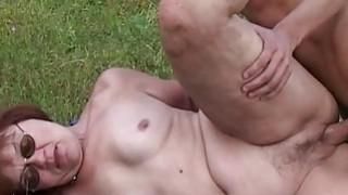 Horny Farm Boy Fucks A_Redhead Mature Outdoors Preview Image