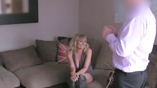 Busty blonde British Milf banged on casting Preview Image