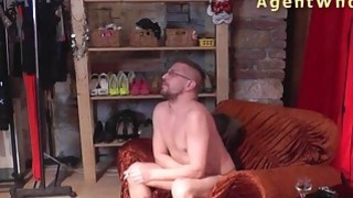 Reverse casting - Sexy MILF tests a guy's licking skills Preview Image
