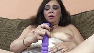 Alesia Pleasure is fucking her purple dildo Preview Image