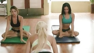 Yoga session_by big boobs blonde trainer Preview Image