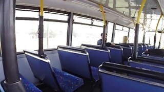Amateur sluts sharing cock in the public bus Preview Image