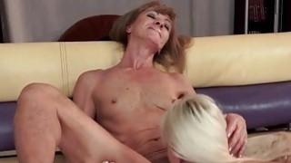 Hot granny and sexy young blonde have lesbian fun Preview Image