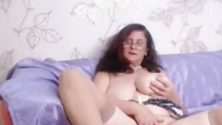 Od busty woman plays with her weet pussy Preview Image