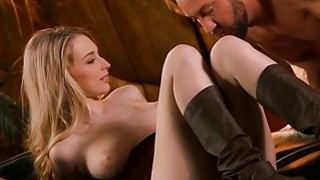 Stud drives into incredibly wet slit doggy style Preview Image