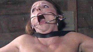 Slave receives ass whipping before twat torturing Preview Image