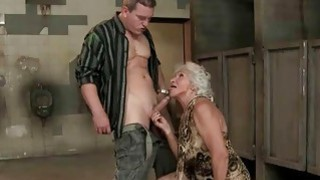 Hot busty granny getting fucked in_public toilet Preview Image