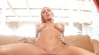 Beauty rides on a overweight cock tenaciously Preview Image