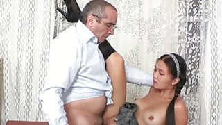 Babe gets her lovely wet crack ravished by teacher Preview Image
