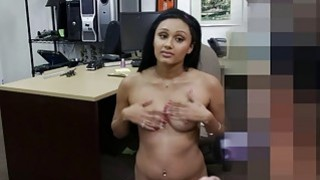 Cute desperate college chick gets fuck for money Preview Image