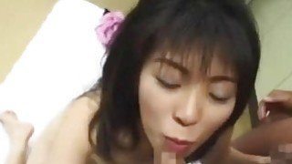 Slutty Japan babe gets showered with semen in gang bang Preview Image