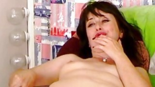 Horny Busty Babe Plays Her Tight Pink Pussy on Cam Preview Image