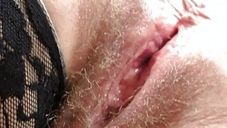 Redhead huge breasts mamma spreads her haired puss Preview Image