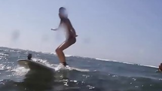 Sexy hot naked babes enjoyed boar hunting and surfing Preview Image
