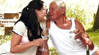 Teen cuties kinky picnic with_a grandpa Preview Image