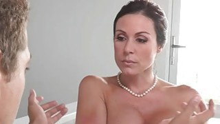 Busty milf punished her stepson and his GF with a good fuck Preview Image