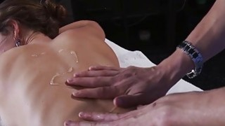 Horny Jenni loves hot cum on her mouth after body massage Preview Image