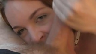 Redhead chick gets fucked by fake driver in the backseat Preview Image