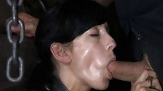 Caged hotty gets a whipping for her smooth gazoo Preview Image