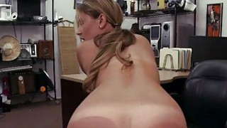 Pretty blonde babe nailed by pawn dude Preview Image