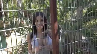 Bigtit sucking in outdoor eagle cage Preview Image