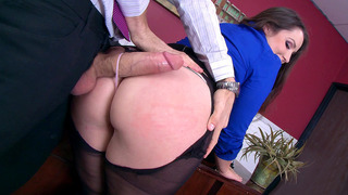 Lola Foxx takes monster cock through the hole_in her pantyhose Preview Image