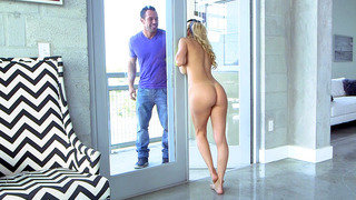 Alexis Fawx seduces her son's friend, doing her housework in the nude Preview Image