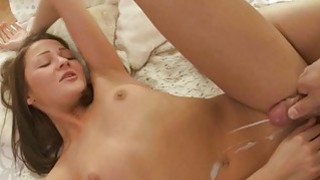 Sleeping gal is awaken by boy for mindblowing sex Preview Image