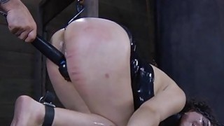Masked hotty with exposed slit receives spanking Preview Image