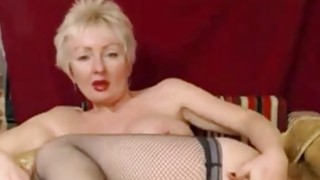 Blonde Mature Fingering Her Pussy Preview Image