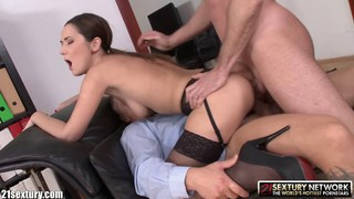 Sexy_secretary_double_dicked_by_her_bosses Preview Image