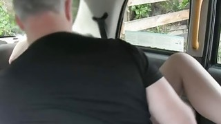 European redhead pounded by fake driver in the backseat Preview Image