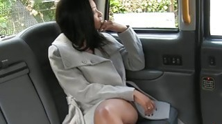 Naked ebony woman with big tits railed by fake driver Preview Image